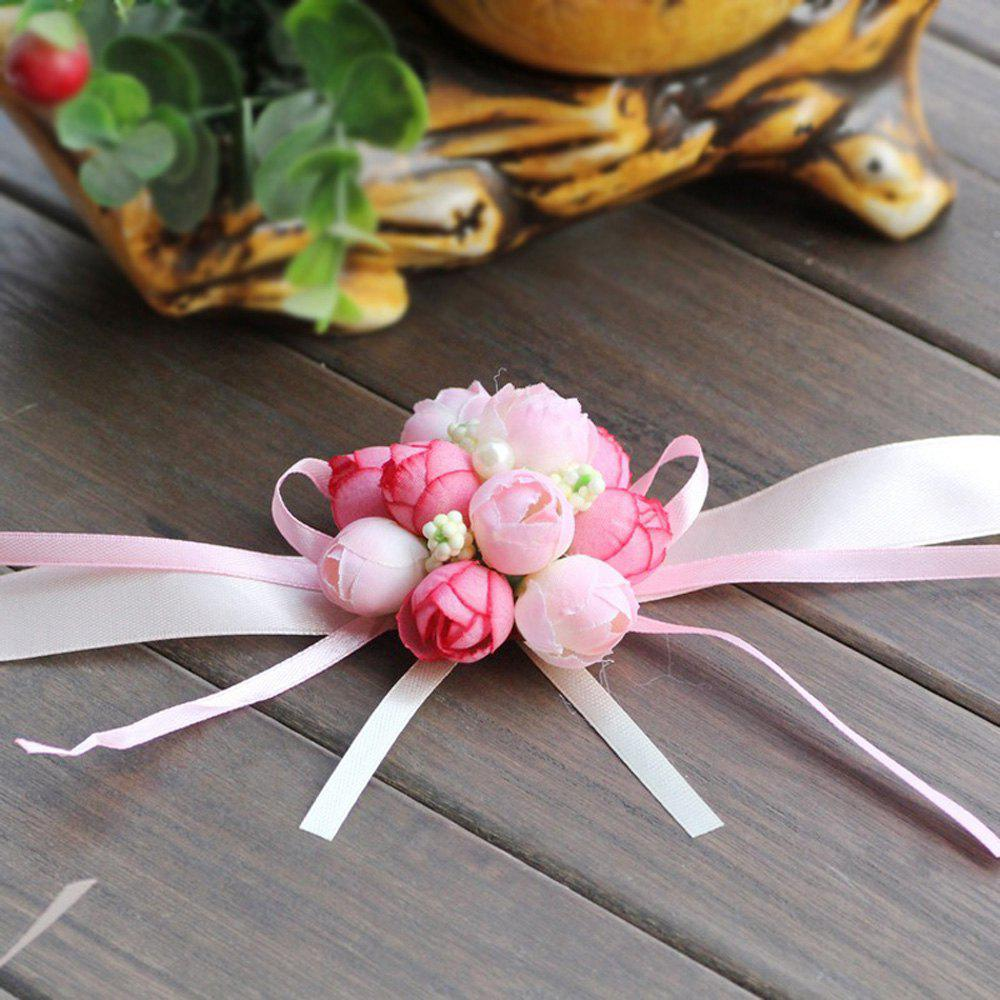 The Rose Emulational Wrist Flower Decoration - PINK