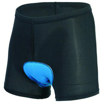 Realtoo Men's 3D Padded Bicycle Cycling Underwear Shorts - BLACK 2XL