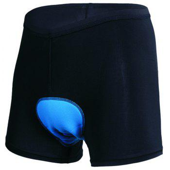 Realtoo Cycling Under Shorts Men's Bike Underwear Shorts - BLACK 2XL