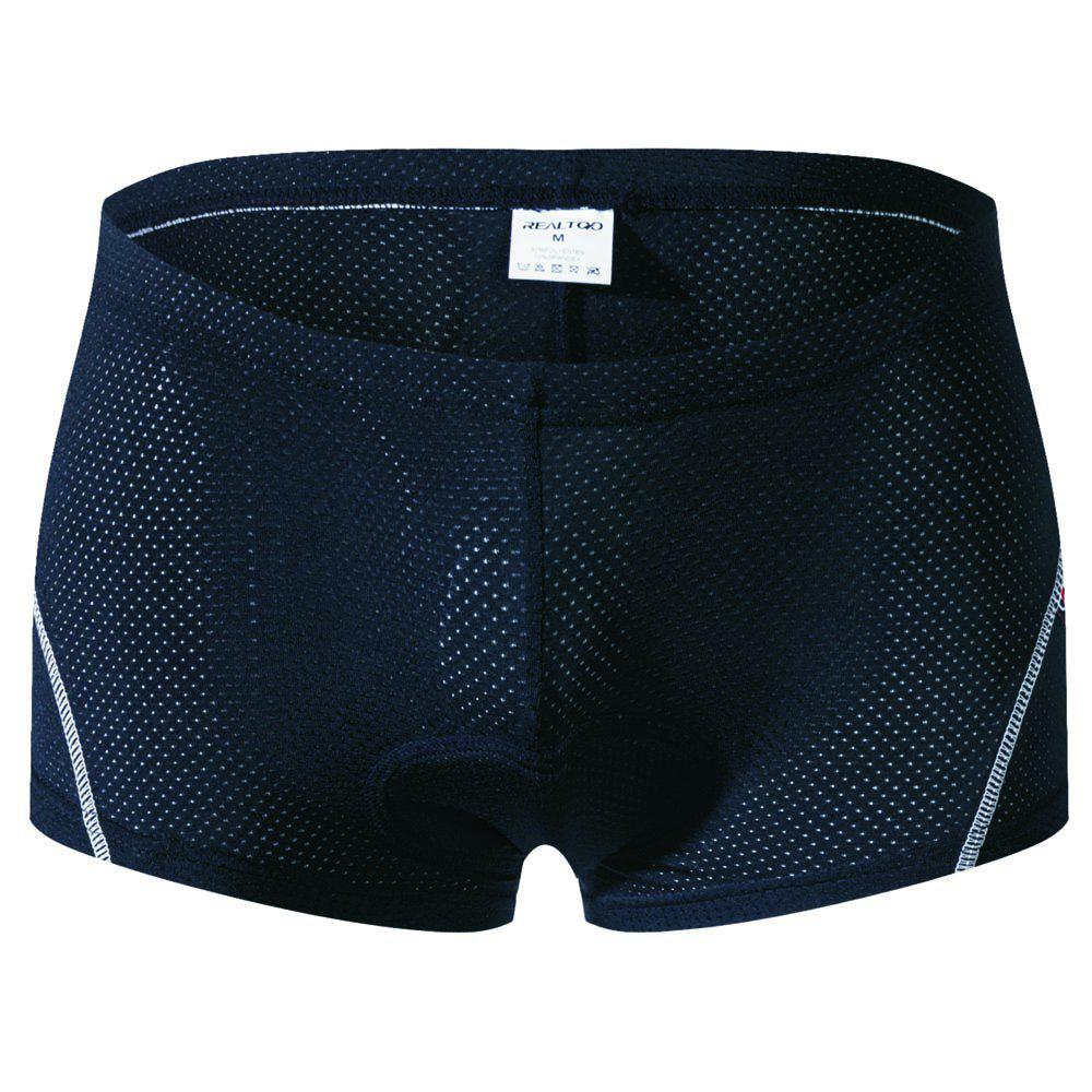 Realtoo Men's Cycling Under Shorts - BLACK M