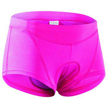 Realtoo Women's 3D Padded Bicycle Low Waist Cycling Underwear Shorts - PINK XL