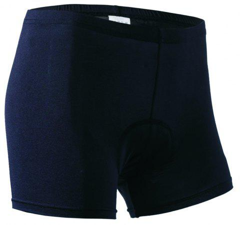 Realtoo Women's 3D Padded Bicycle Cycling Underwear Shorts - BLACK XL
