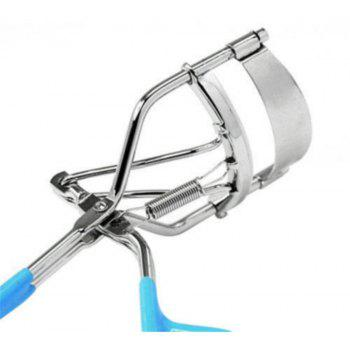 Portable Eyelash Curler with Silicone Pad - BLUE