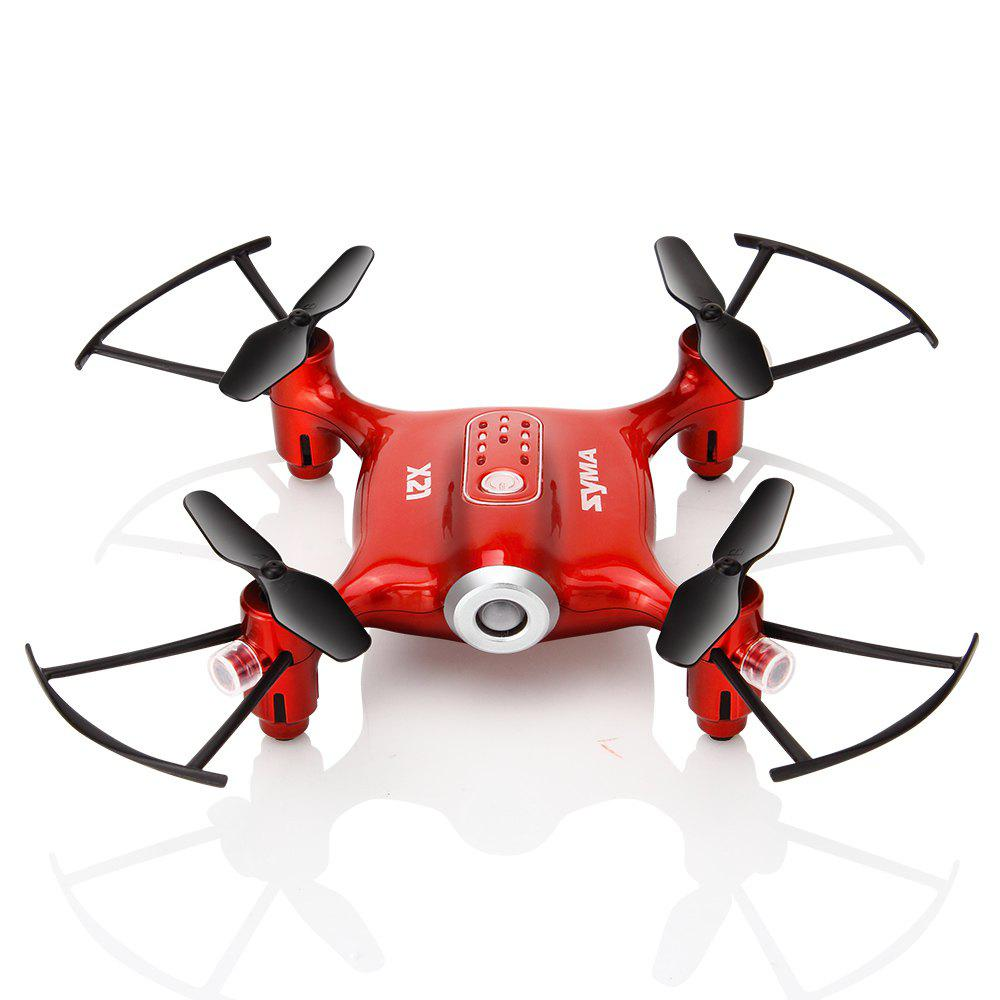 SYMA X21 RC Drone RTF with Headless Mode / Altitude Hold / Low-voltage Protection - RED 1PC
