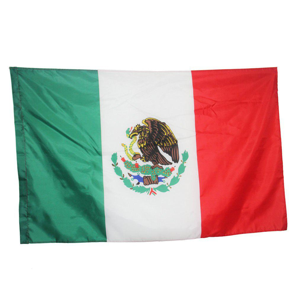 Fans Games Mexican Flag on The 4TH 90 x 150CM - COLORMIX