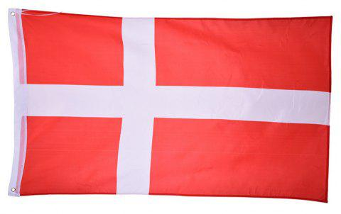 Fans Games Danish Flag on The 4TH 90 x 150CM - COLORMIX