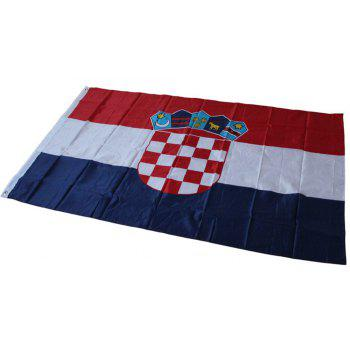 Fan Club Croatian Flag on The 4TH 90 x 150CM - COLORMIX