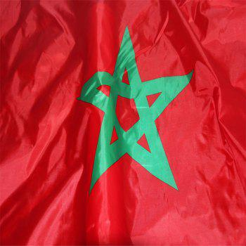 Fans Games Moroccan Flag on The 4TH 90 x 150CM - COLORMIX