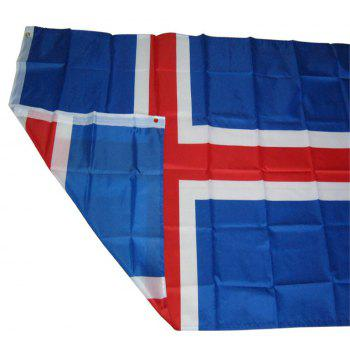 Fans Games Iceland Flag on The 4TH 90x150CM - COLORMIX