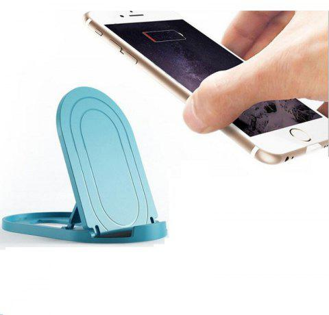 Folding Pad Stand Mount Holder Phone Desktop Bracket - BLUE