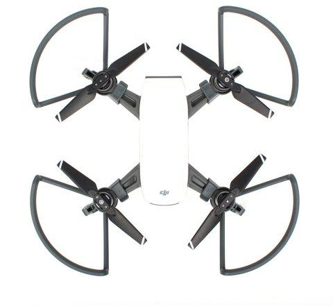 Propeller Guards Foldable Landing Gears Protective Kit for DJI SPARK Camera Drone Accessories - BLACK