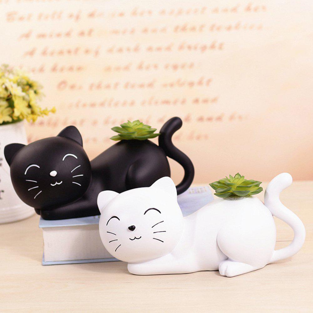 Black and White Cat Piggy Bank - BLACK