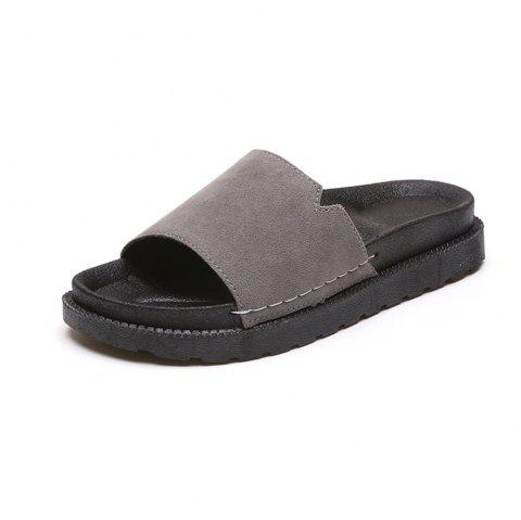 bfcec6ea4 2019 A Wearing Indoor Fashion Sandals Shoes All-Match In GRAY 35 ...