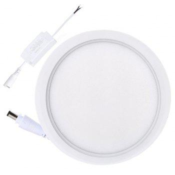 12W Dimmable Round Flat LED Panel Light Lamp Ultra-thin LED Recessed Ceiling Light 5PCS - WHITE