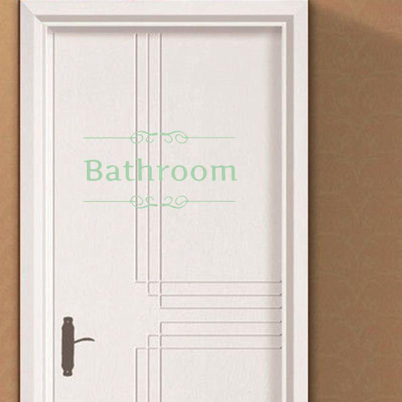 DSU WC Luminous PVC Wall Sticker Removable Waterproof Thinking Post Pictures Door Sign Bathroom Toilet Sticker door sign plate indicator for toilet rest room washroom quality acrylic creative design women man 3d 10x24cm customized