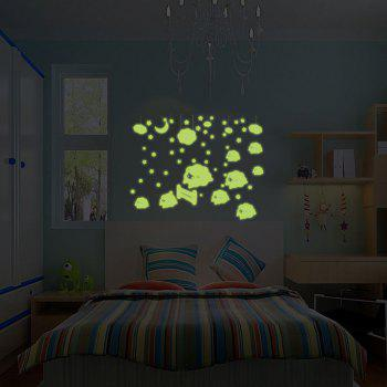 DSU Special Effects Luminous Wall Stickers Small Universe Fluorescent Stickers - NEON GREEN 21X30CM