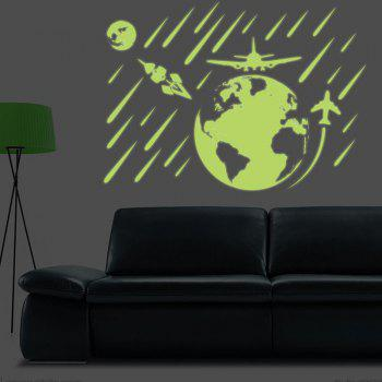 DSU Luminous Shooting Star Wall Sticker Kids Bedroom Ceiling Meteor Green Fluorescent Glow in Dark Sticker - NEON GREEN 21X30CM