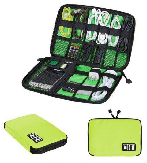 Luxury Digital Accessories Storage Pouch Case Travel Organizer Bag - GREEN