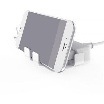 USB Smart Fast Charging Multi-Port Tablets Phone Digital Chargers for iPhone - WHITE US