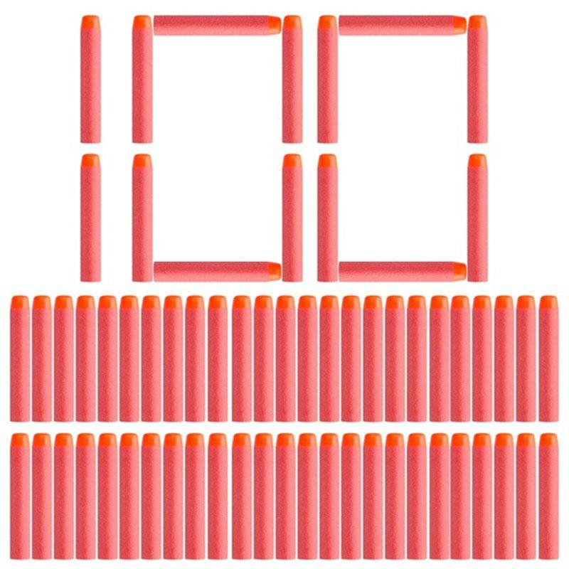 7.2cm Soft Bullet Hollow Hole Foam Refill Dart Ammo for Nerf Toy Gun 100PCS - RED