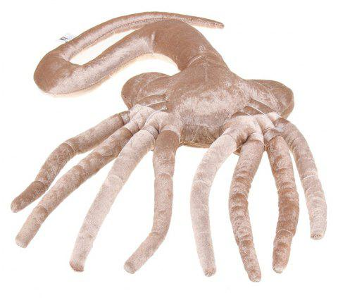 Facehugger Plush Toy for April Fools Halloween Costume Party - BEIGE