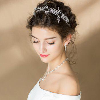 Silver Plated Crystal Headband for Women Wedding Party - SILVER