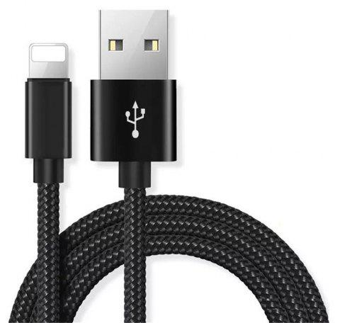 Mobile Phone Cables USB Smart Charging Cable for iPhone X/8 Plus/ 8/ 7/ 7 Plus/ 6S/ 6 Plus/ 5 / 5S - BLACK
