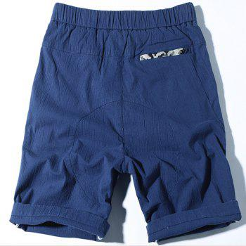 Summer New Sunscreen Thin Large Size Men Shorts - BLUE 36
