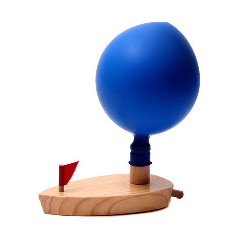 Creative Baby Bath Balloon Power Boat in Bathroom Classic Toys Funny Game Wooden - COLOUR