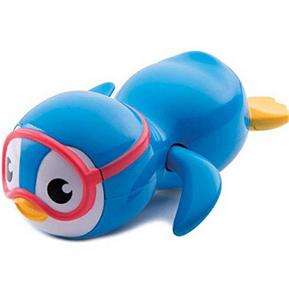 Baby Playing Water Clockwork Swimming Penguin Children Bathing Water Toy - BLUE