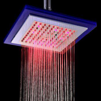 BRELONG LED Spray Shower Temperature Controlled Three-color 8-inch Square - RGB