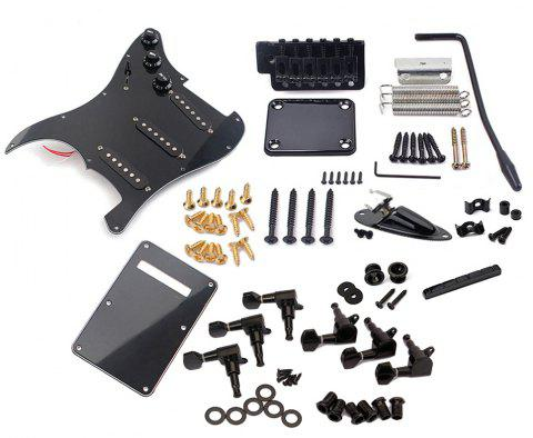 Electric Guitar Kit ST Style Full Accessories Kit Black - BLACK