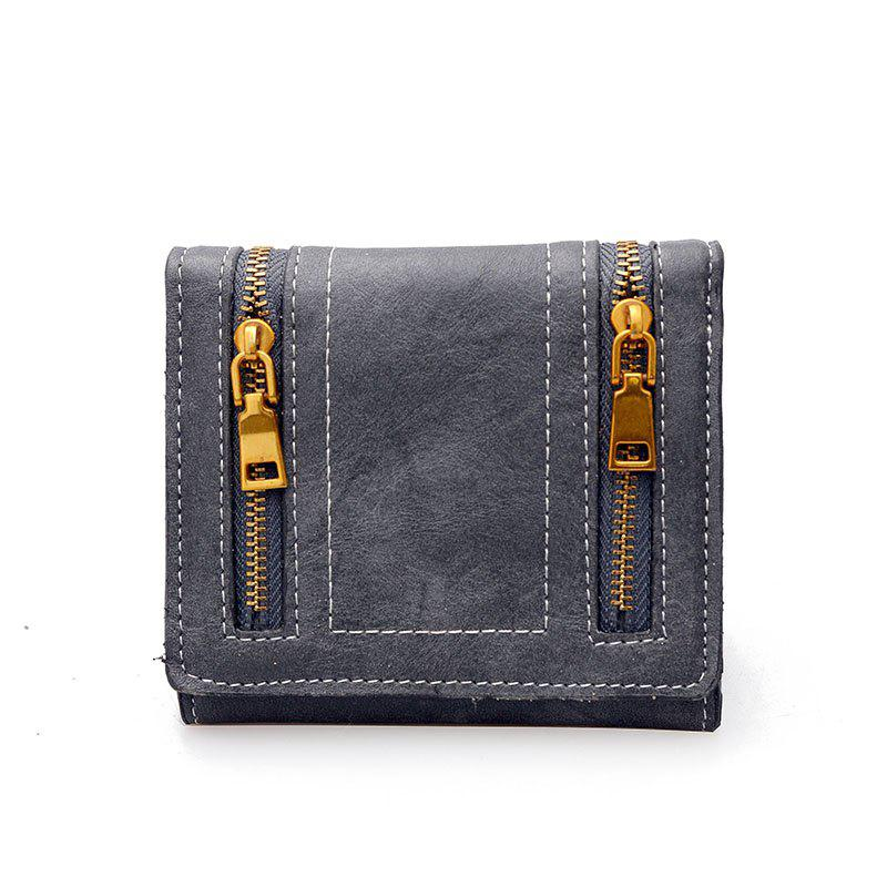 New Fashion Zipper Purse Female Personality - GRAY