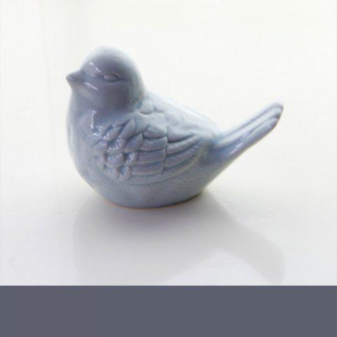 Ceramic Cute Bird Decorations Creative Home Supplies Multiple Color - BLUE KOI