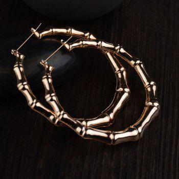 Hotsales Oversized Bamboo Exaggerated Gold Nightclub Earrings for Women - GOLDEN