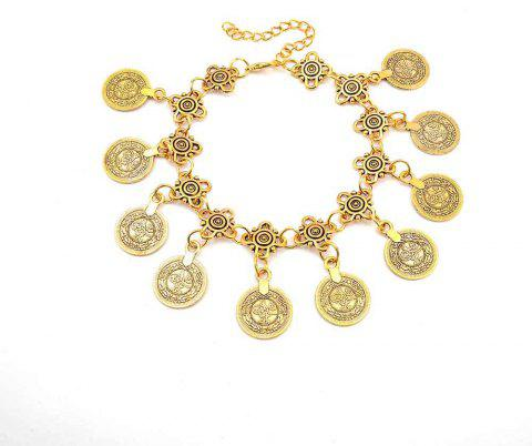 High-end Fashionable Vintage Style Metal Coin Tassel - GOLDEN