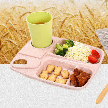 1Pc Wheat Straw with Cup Tray - PINK 25.5X19.5CM