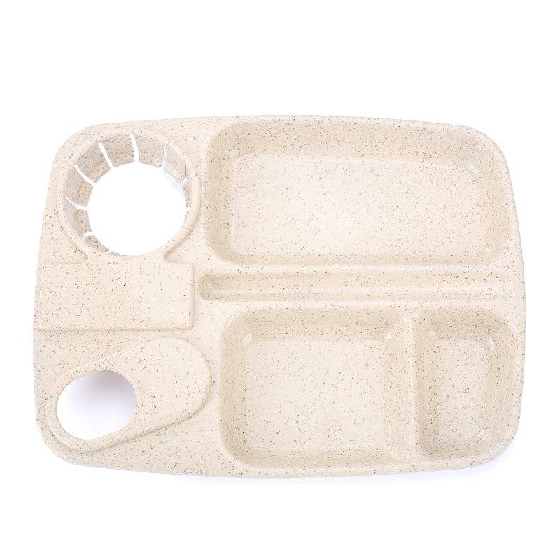 1Pc Wheat Straw with Cup Tray - BEIGE 25.5X19.5CM