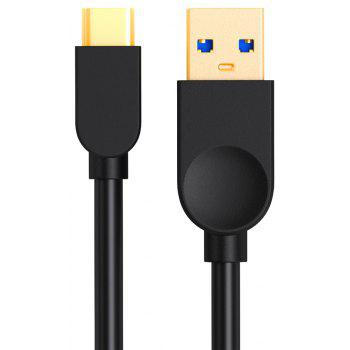 USB C Type C Cable USB 3.0 Fast 2.4A Charger Data Cable USB C Mobile Phone Cable for Xiaomi OnePlus - BLACK 1.5M