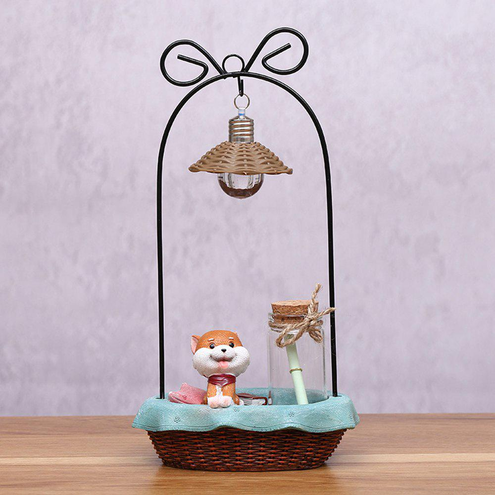 Dessin animé mignon Shiba Inu Night Light artisanat ornements - Brun