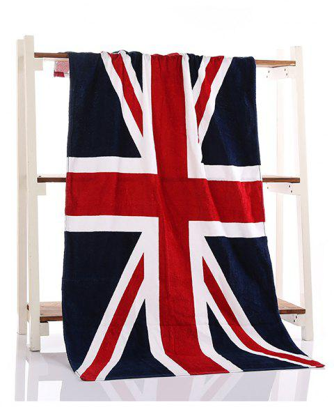 Fashion Flag Beach Printing Bath Towel - BLUE