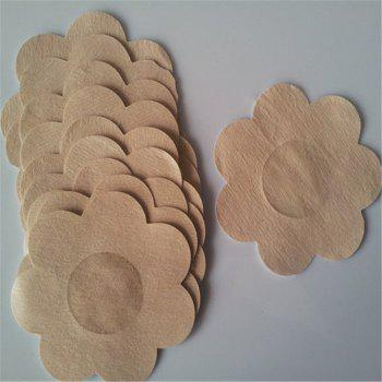 Non-Woven Disposable Cloth Plum Milk Nipple Stickers Anti-Light 12pcs - BEIGE SINGLE