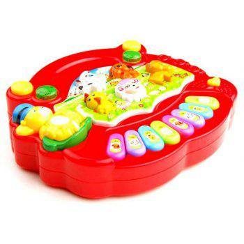 Musical Instrument Baby Kids Cartoon Piano Learning Education Toys - RED