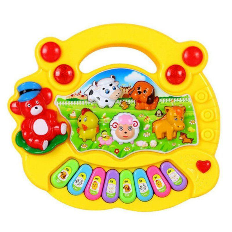 Musical Instrument Baby Kids Cartoon Piano Learning Education Toys - YELLOW
