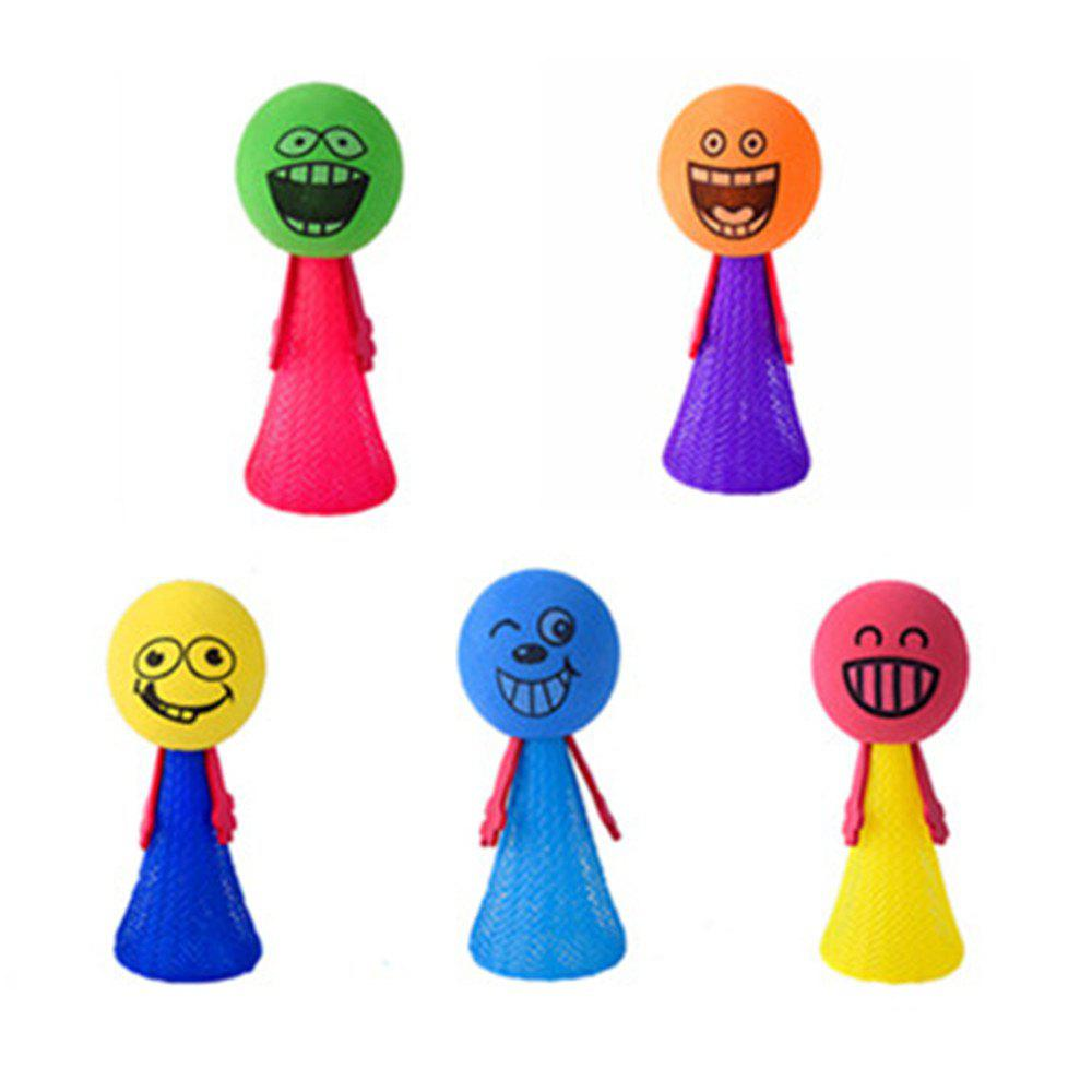 Creative Cartoon Image Fingertips Bouncing Toy for Baby 5PCS - COLOUR