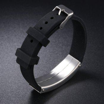 Men'S Bracelet Stainless Steel  Bangle - BLACK