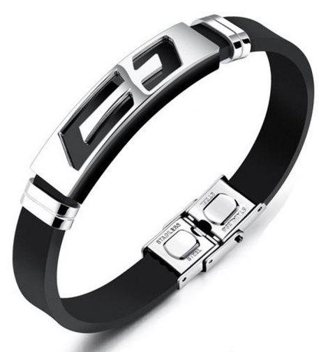 New Men'S Bracelet Creative Stainless Steel Bangle - SILVER