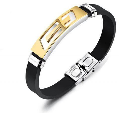 New Men'S Bracelet Creative Stainless Steel Bangle - GOLDEN
