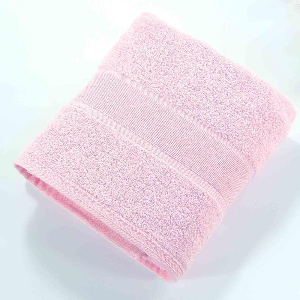 New Pure Color Jacquard Nature Cotton Square Hand Towel - PINK