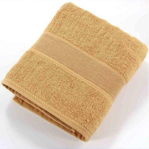 Solid Color Soft Cotton Face Towel For Adults Thick Bathroom Super Absorbent - COFFEE